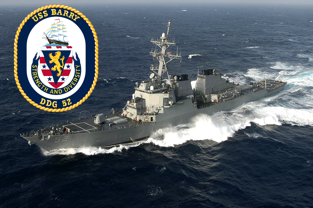 USS Barry transits Taiwan Strait as tensions escalate between China and Taiwan