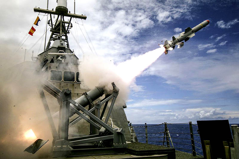USS Coronado launches the first over-the-horizon missile engagement using a Harpoon Block 1C missile during the Rim of the Pacific Exercise (RIMPAC) 2016 in the Pacific Ocean.