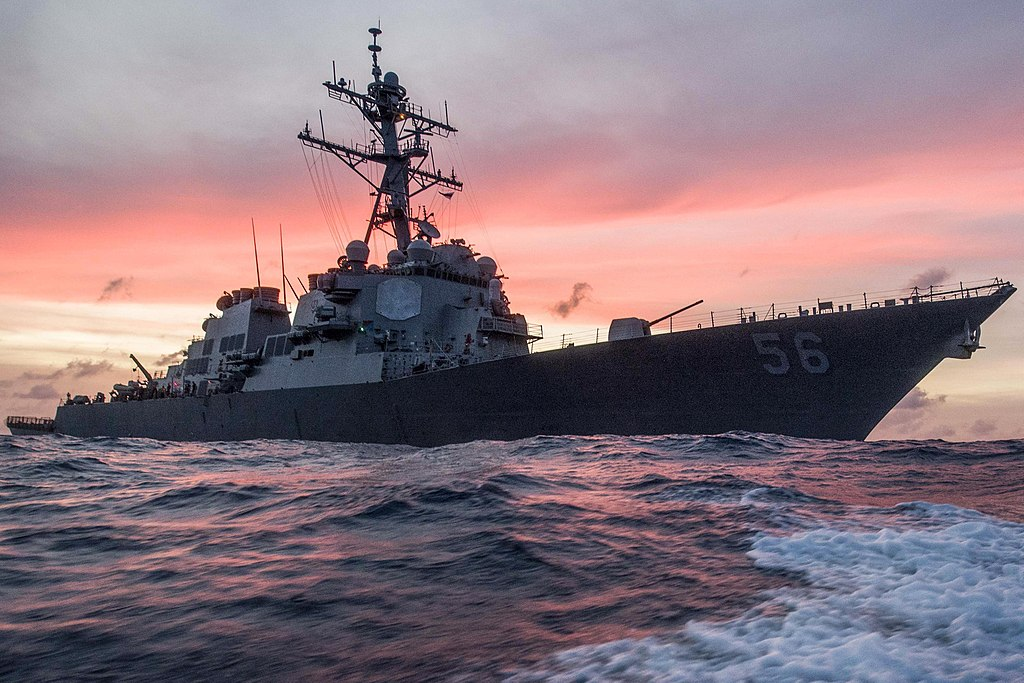 The USS John S. McCain conducts a routine patrol in the South China Sea, Jan. 22, 2017