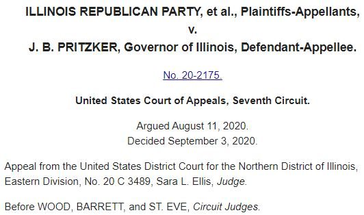 Illinois Republican Party v. Pritzker | mandatory vaccinations