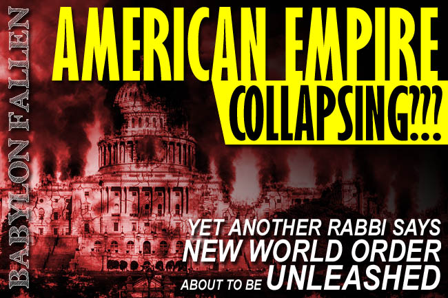 Rabbi Alon Anava Warns Collapse of American Empire Now Unfolding