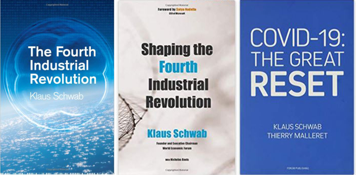 Klaus Schwab books on the Fourth Industrial Revolution and the Great Reset