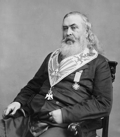 Albert Pike | Sovereign Grand Commander of the Scottish Rite's Southern Jurisdiction & 33-degree Freemason