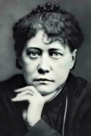 Russian occultist Helena Blavatsky (Elena Petrovna Gan Blavtsky), founder of Theosophy and the Theosophical Society