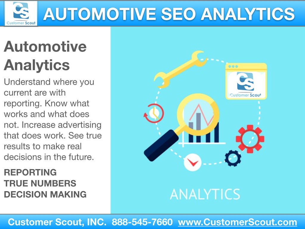 Customer Scout Automotive Analytics SEO