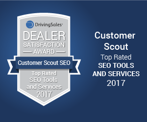 Customer Scout SEO driving sales award