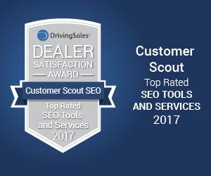 Customer Scout SEO driving sales award