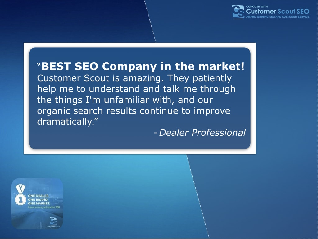 Customer Scout SEO dealer review