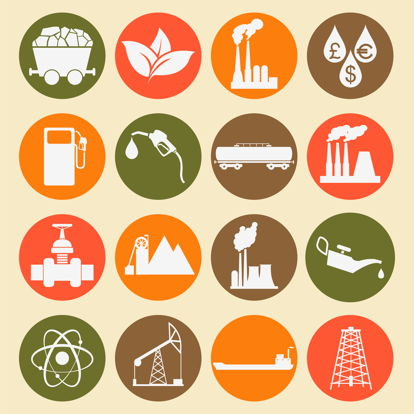 Set 16 fuel and energy icons