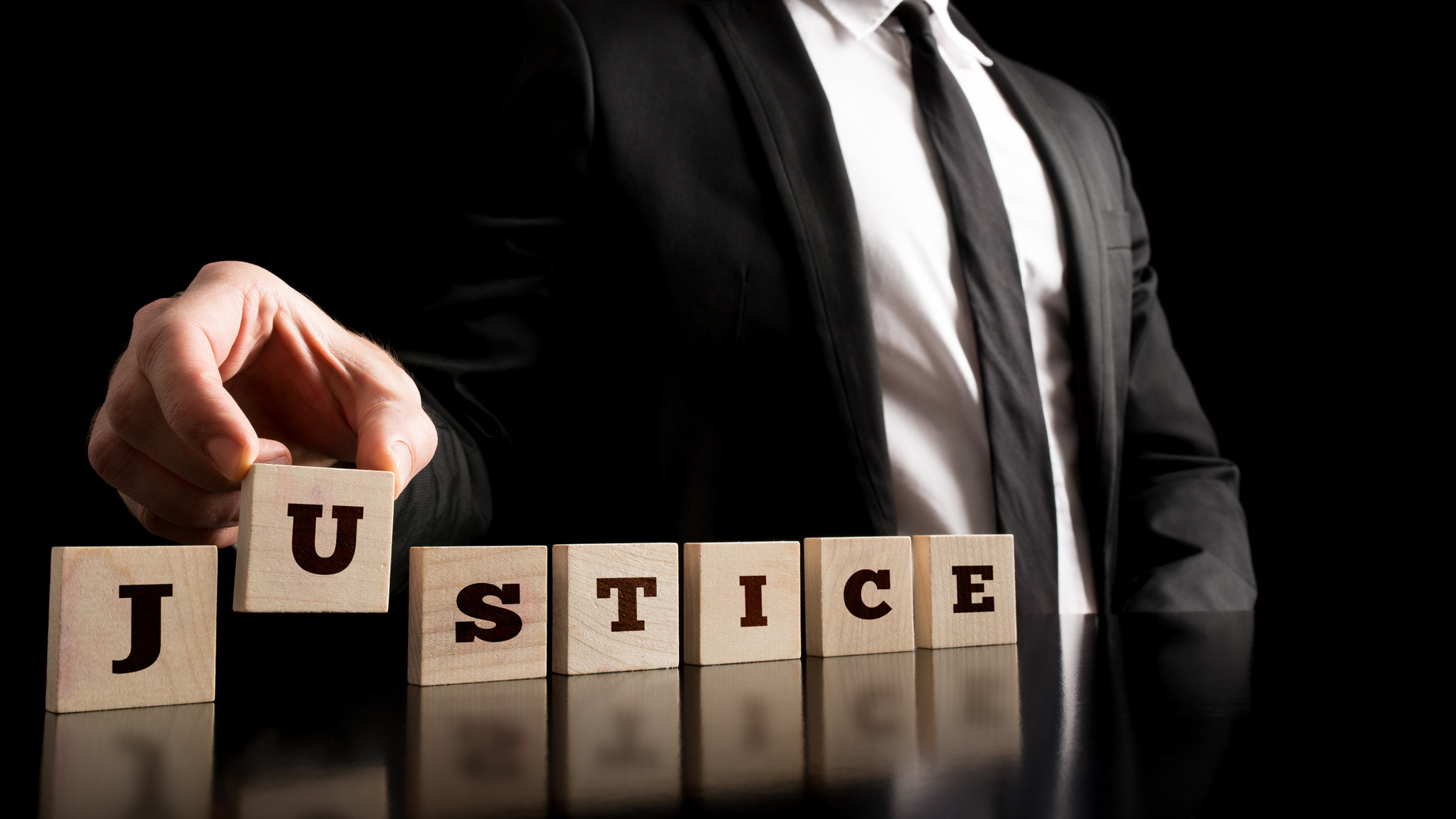 Justice on Wooden Piece