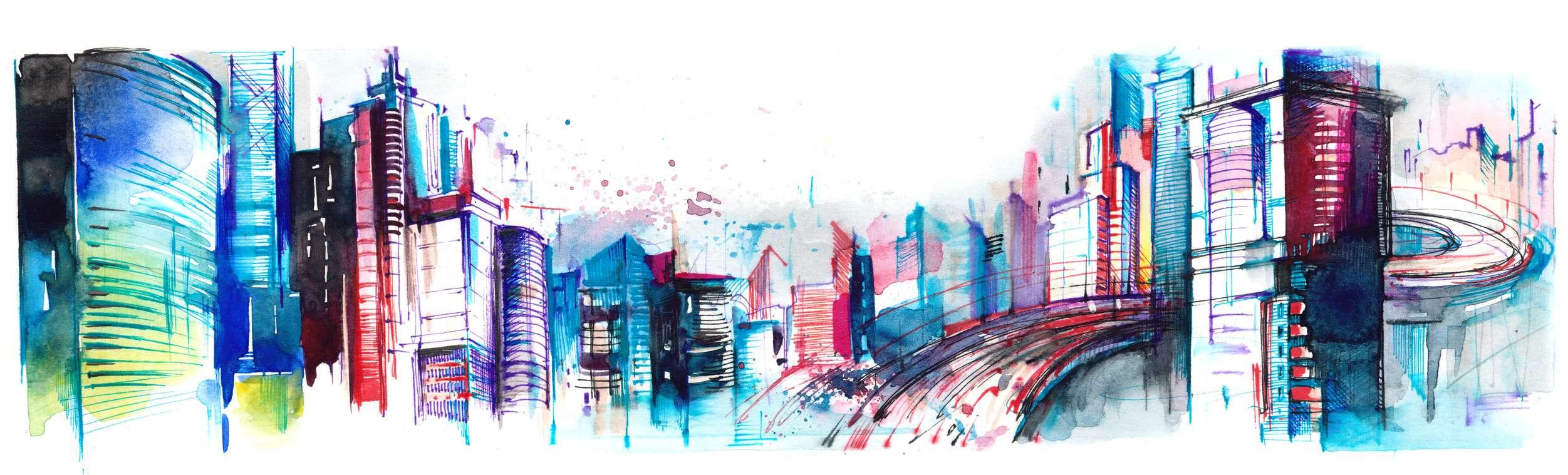 panorama of city