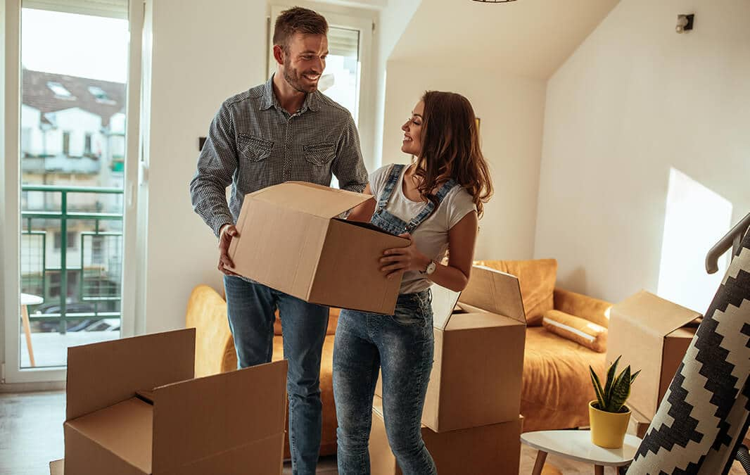 Couple moves into apartment
