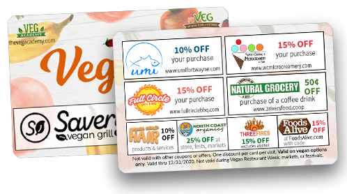 fort wayne vegan savings card