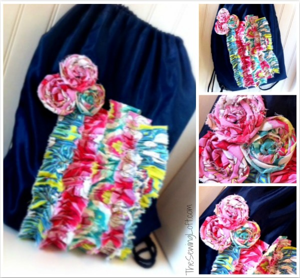 Ruffle tote bag makeover. The Sewing Loft