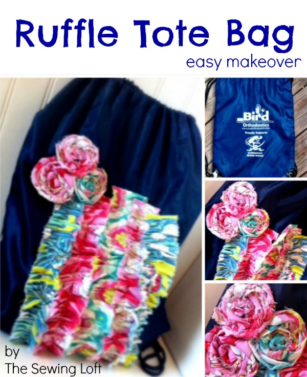 Simple ruffle tote bag makeover. The Sewing Loft