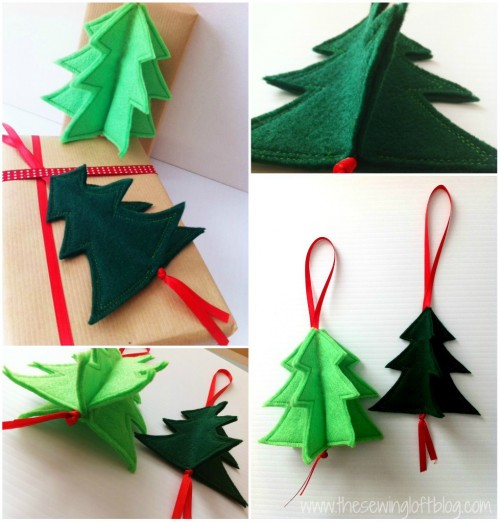 3D Christmas Tree Ornament -The Sewing Loft