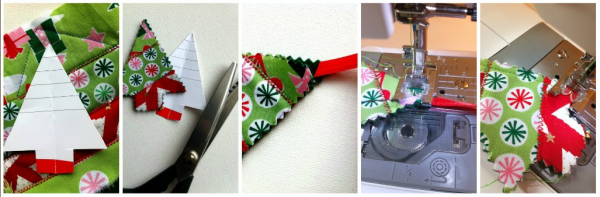 Fabric Scrap Holiday Ornaments -The Sewing Loft