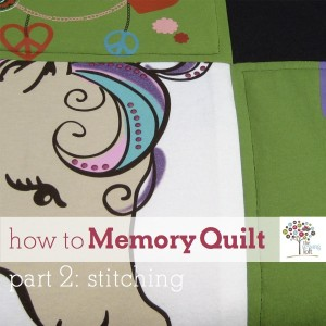 How to make a memory quilt on The Sewing Loft