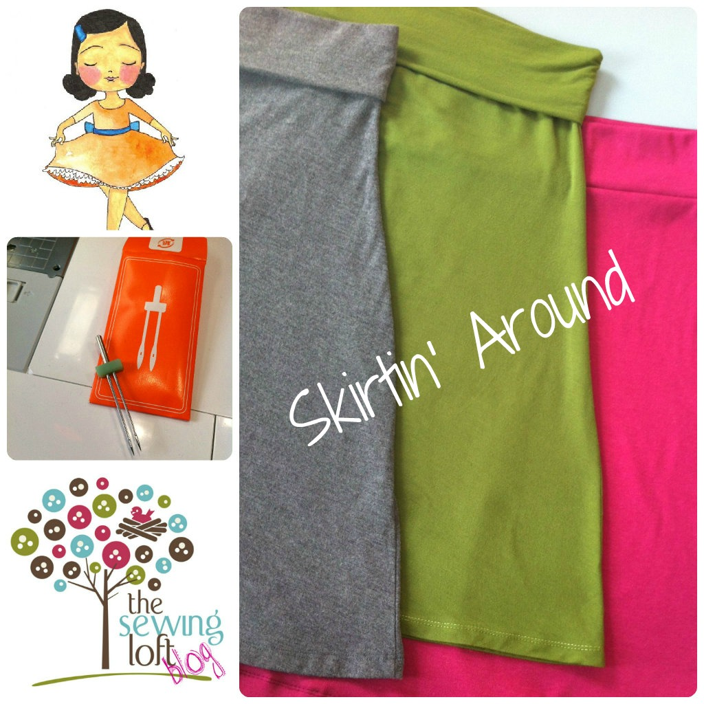 Make a simple knit skirt. Easy step by step instructions. The Sewing Loft