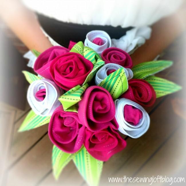 Tee Shirt Flowers via thesewingloftblog.com
