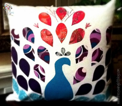 Peacock Pillow -The Sewing Loft