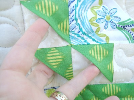 Learn how to make a 3 D quilt block on The Sewing Loft