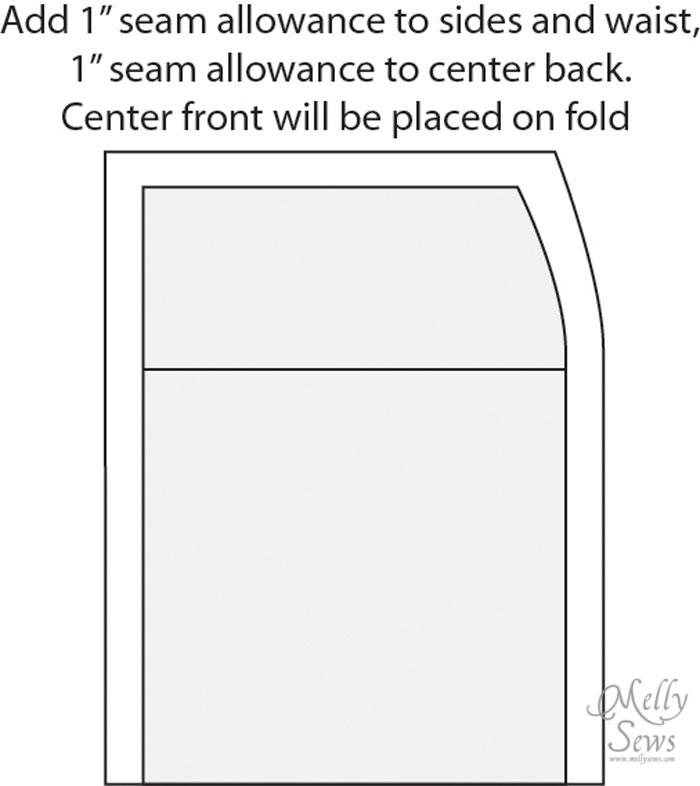 Draft a skirt | Easy skirt pattern thesewingloftblog.com