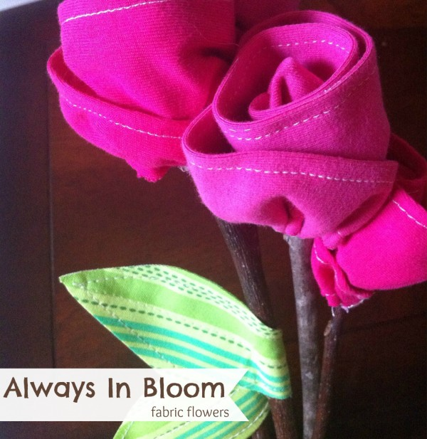 Fabric Flowers from Tee Shirts | The Sewing Loft