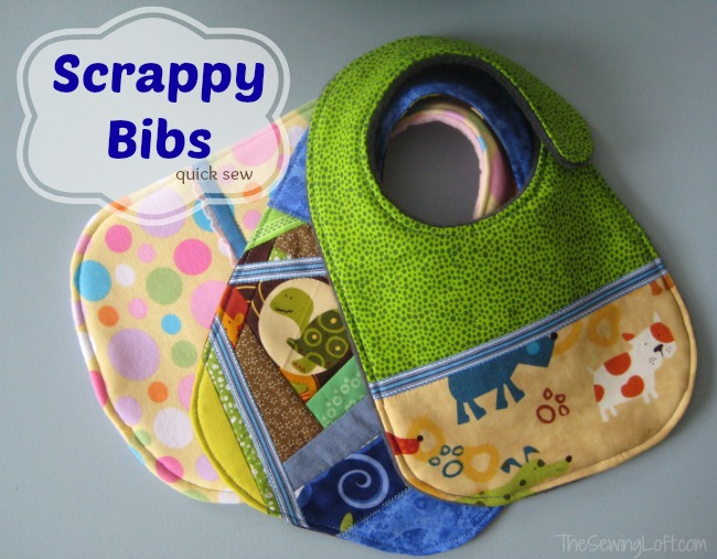 Using Scraps to make bibs | The Sewing Loft