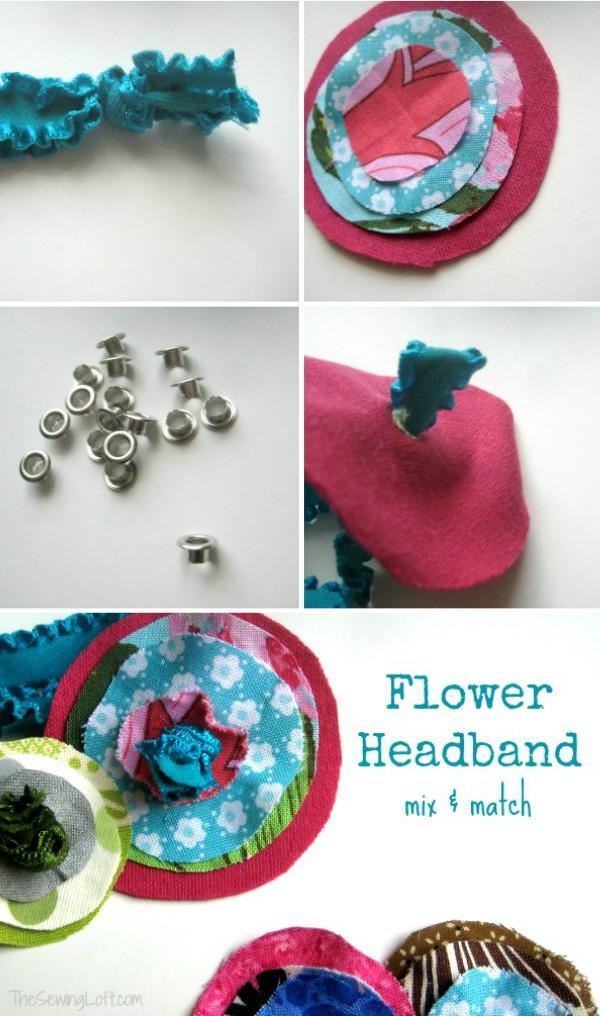 Easy Flower Elastic Headbands | The Sewing Loft