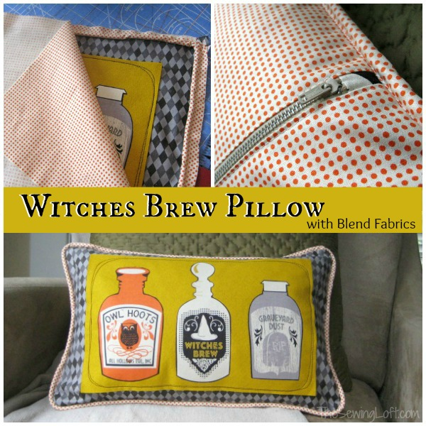 Witches Brew Spooktacular Pillow | The Sewing Loft