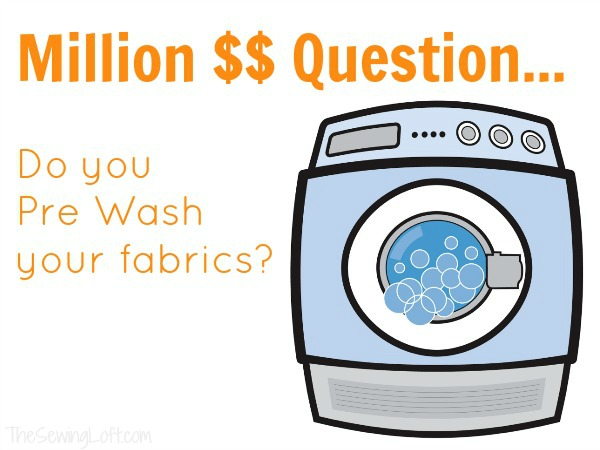 Pre washing fabric | The Sewing Loft