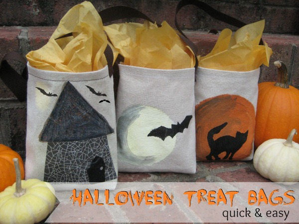 Halloween Treat Tote Bags by The Sewing Loft #MSHalloween