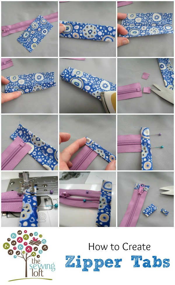 Zipper tabs are functional, plus add a creative detail. Learn how to reduce a zipper and the anatomy of a nylon zipper on The Sewing Loft