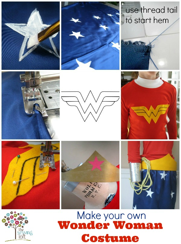 Learn how to make your own Wonder Woman Costume by The Sewing Loft  #halloween #diy