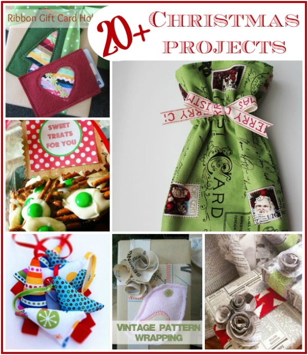 Easy Christmas Holiday Projects. 20+ Tutorials from The Sewing Loft #holidaygiftideas #sewing