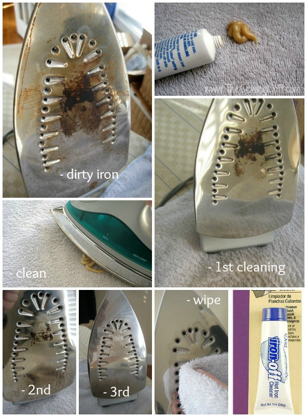 Clean your iron in a flash with Iron Off by Dritz. Quick Tip by The Sewing Loft #sewingtip