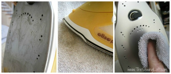 Keep your Oliso iron clean with Dritz Iron Off. Quick Tip by The Sewing Loft #sewingtip