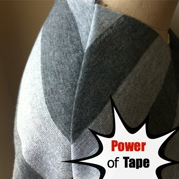 Stay Tape is perfect for sewing with knits. Quick Tip by The Sewing Loft