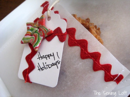 Trimmed parchment bags can help make store bought baked goods fantastic. by The Sewing Loft