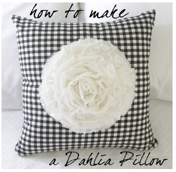 How to make a Dahlia Pillow