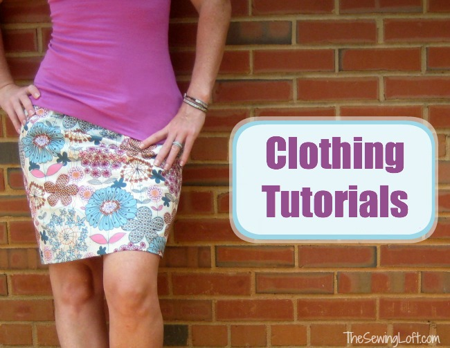 All your favorite clothing tutorials by The Sewing Loft in one place. #sewing
