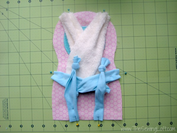 Floppy Bunny Pattern placement. The Sewing Loft #Freepattern #Bunny