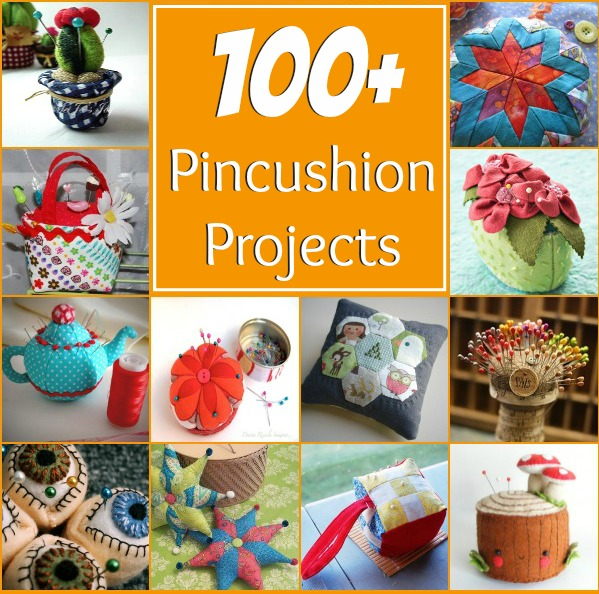 100 plus pincushion projects. All patterns are free with step by step instructions. The Sewing Loft #sewing #fatquarter