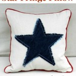 Star Fringe Pillow. Free pattern by The Sewing Loft