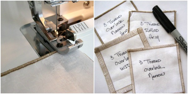 Create a stitch card reference book for a quick visual guide.  The Sewing Loft
