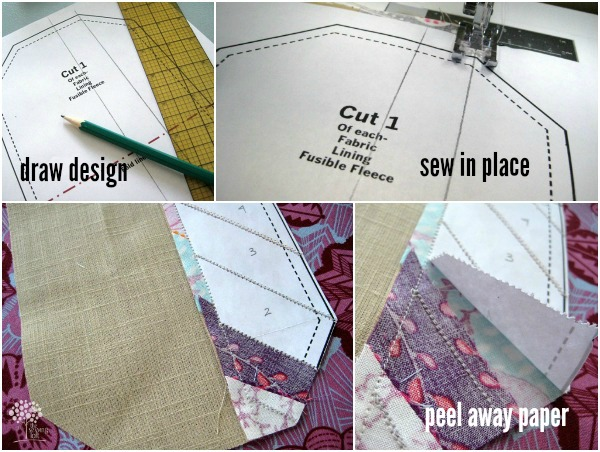 Mini wallets are easy to make and perfect for using up smaller scraps. This free pattern template explores adding personal touches and details.