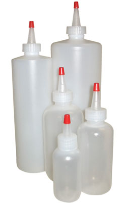 Squirt bottles are great to use when dye painting fabric.
