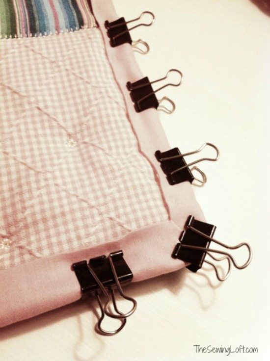 Binding your quilts with ease - quick tip on The Sewing Loft