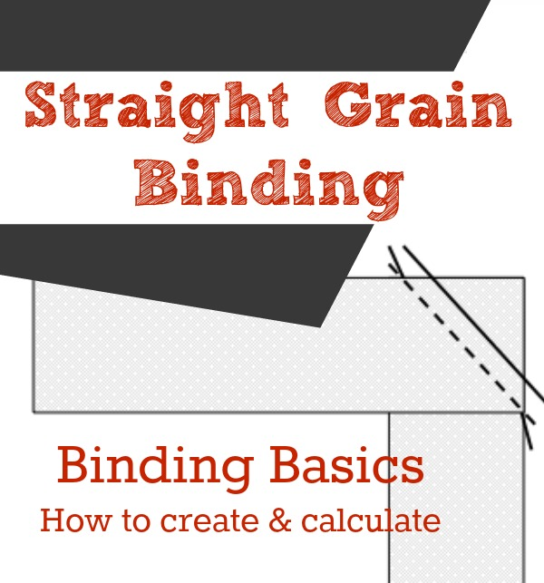 Straight grain binding is perfect for quilts, mug rugs and pillows. Learn how to make and calculate yardage needed to create binding for your next project.